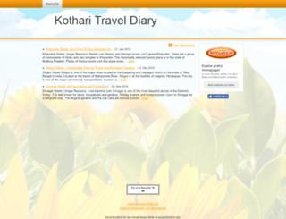 kotharitraveldiary.beepworld.de screenshot