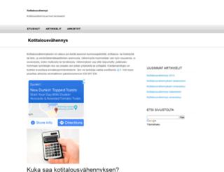 kotitalousvahennys.info screenshot