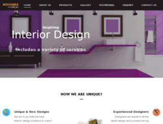 koushikainteriors.com screenshot