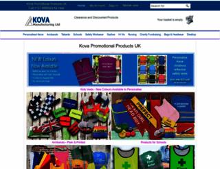 kova-promotional-products.co.uk screenshot