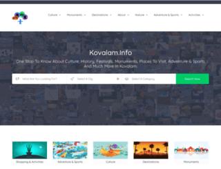 kovalam.info screenshot