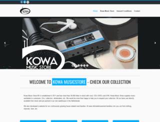 kowamusicstore.com screenshot