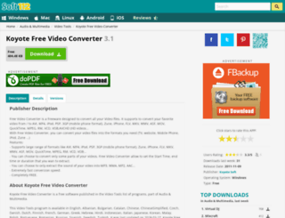 koyote-free-video-converter.soft112.com screenshot