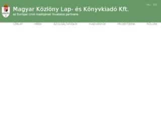 kozlonykiado.hu screenshot
