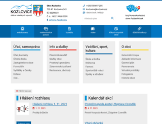 kozlovice.cz screenshot