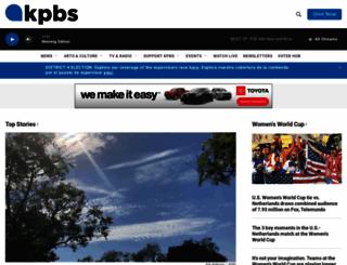 kpbs.org screenshot