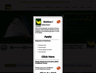 kpese.gov.pk screenshot