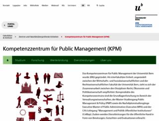 kpm.unibe.ch screenshot