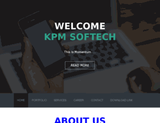 kpmsoftech.in screenshot