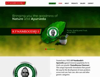 kpnamboodiris.com screenshot