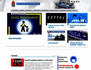 kppgrodzisk.policja.waw.pl screenshot