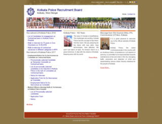 kprb.kolkatapolice.gov.in screenshot