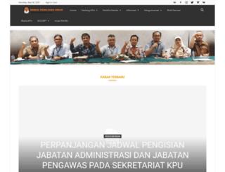 kpud-sumutprov.go.id screenshot