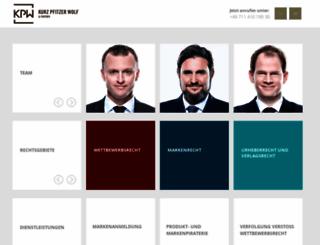 kpw-law.de screenshot