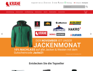 kraehe-office.com screenshot