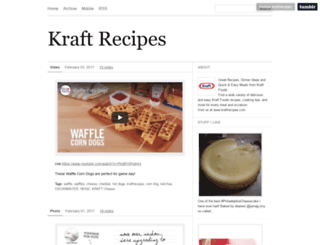 kraftrecipes.tumblr.com screenshot