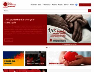 krakow.caritas.pl screenshot