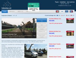 krakowtrips.co.uk screenshot