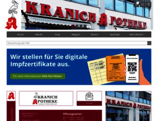 kranich-apotheke.net screenshot