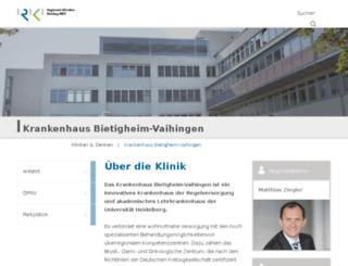 krankenhaus-vaihingen.de screenshot