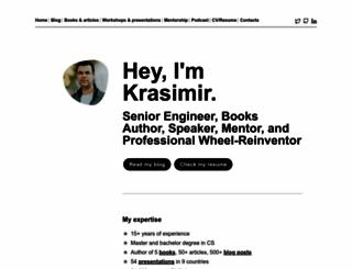 krasimirtsonev.com screenshot