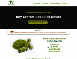 kratomcaps.com screenshot