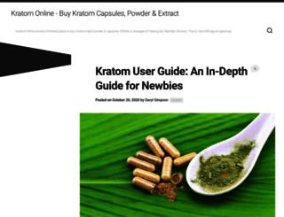 kratomonline.org screenshot