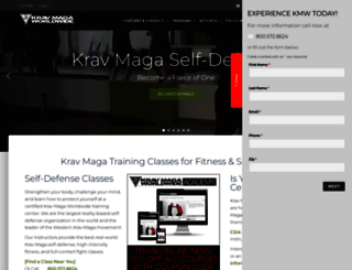 kravmaga.com screenshot