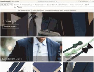 krawattenspezialist.at screenshot