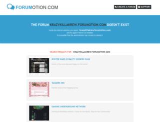 krazykillakrew.forumotion.com screenshot