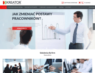 kreator-szkolenia.pl screenshot