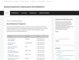kreditkarten-in.at screenshot