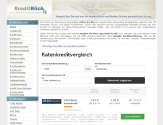 kreditklick.com screenshot