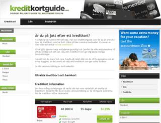 kreditkortguide.com screenshot