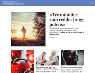 kreftforeningen.digitalebilag.no screenshot