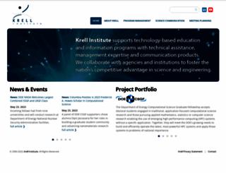 krellinst.org screenshot