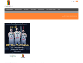 krepsiniobilietai.koobin.com screenshot