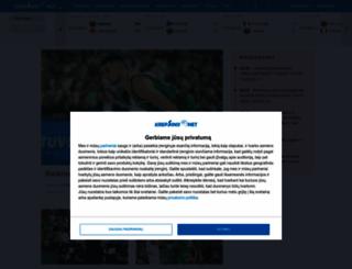 krepsinis.net screenshot