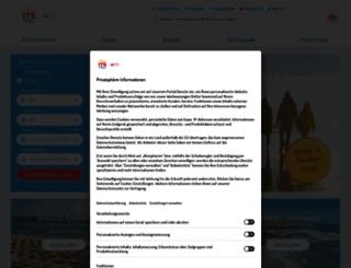 kreuzfahrten.its.de screenshot