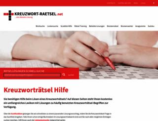 kreuzwort-raetsel.net screenshot