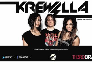 krewella.wantickets.com screenshot