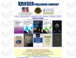 krieger-publishing.com screenshot