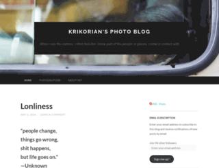 krikorian.wordpress.com screenshot