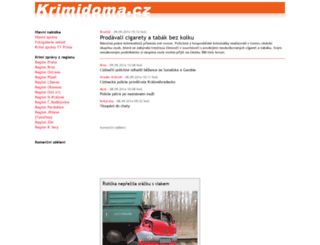 krimidoma.cz screenshot