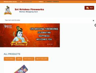 krishnafireworksonline.com screenshot