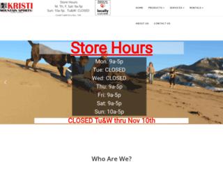 kristimountainsports.com screenshot