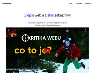 kritikawebu.cz screenshot