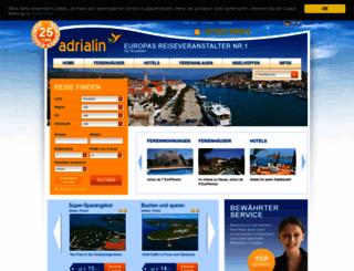 kroatien-adrialin.de screenshot