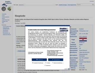 kroatien-lexikon.de screenshot