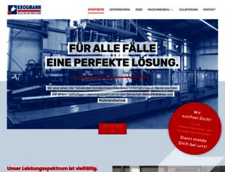 krogmannmaschinen.de screenshot